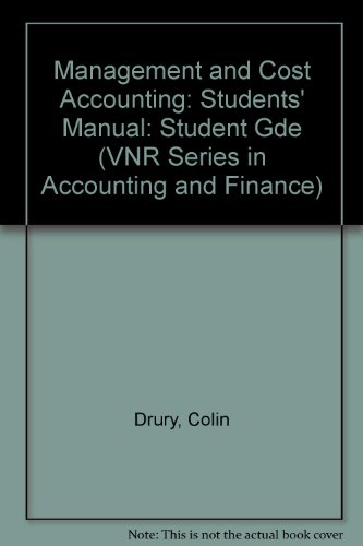 Management and Cost Accounting By Colin Drury