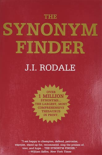 The Synonym Finder By J.I. Rodale