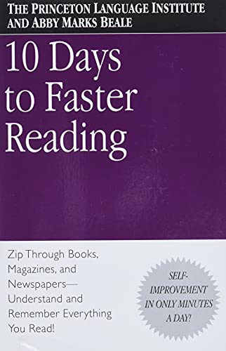Ten Days to Faster Reading By Abby Marks-Beale