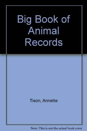 Big Bk Animal Reco Pa By Annette Tison