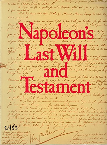 Napoléon's last will and testament By Susanne d'Huart