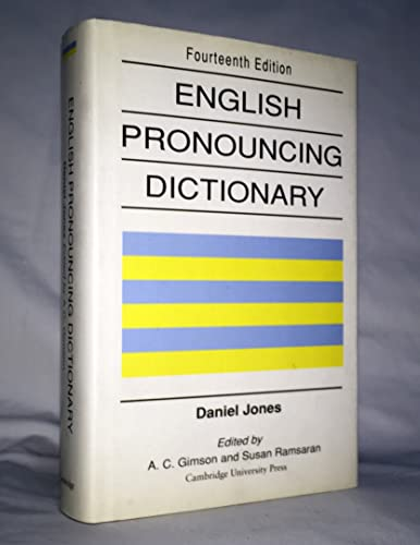 English Pronouncing Dictionary By Edited by Daniel Jones