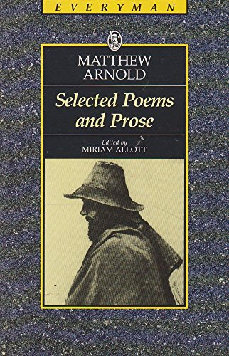 Selected Poems and Prose By Matthew Arnold