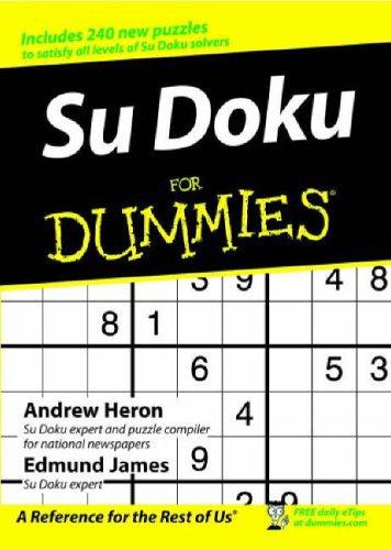 Su Doku for Dummies By Andrew Heron