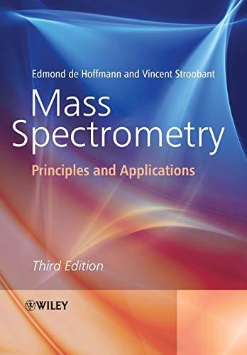 Mass Spectrometry By Edmond De Hoffmann