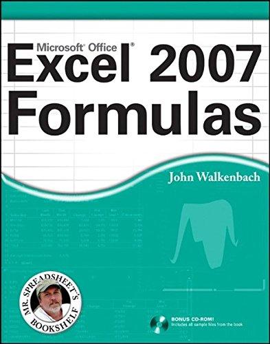 Excel 2007 Formulas by John Walkenbach