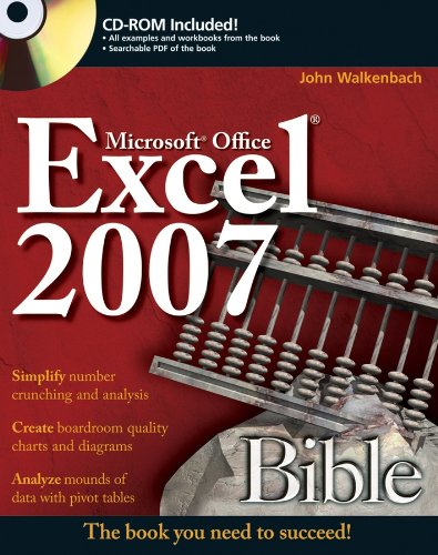 Excel 2007 Bible By John Walkenbach