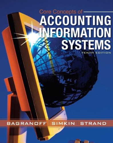 Core Concepts of Accounting Information Systems By Nancy A. Bagranoff