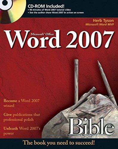 Microsoft Word 2007 Bible by Herb Tyson