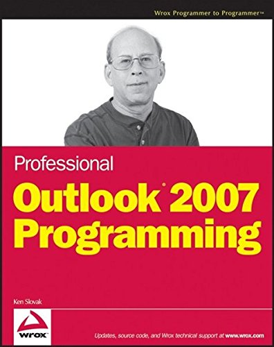Professional Outlook 2007 Programming By Ken Slovak