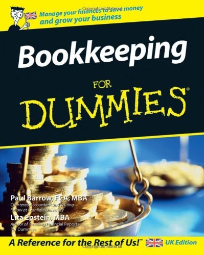 Bookkeeping For Dummies by Paul Barrow