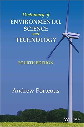 Dictionary of Environmental Science and Technology By Andrew Porteous