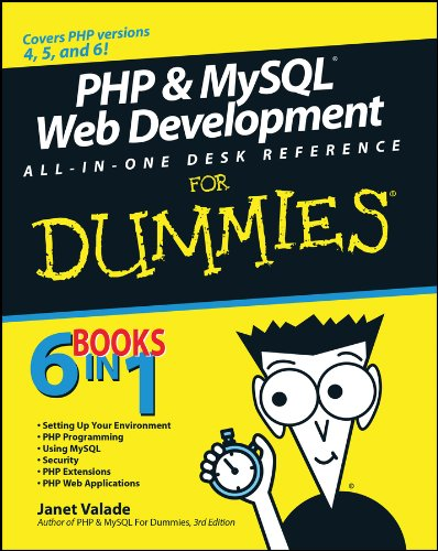 PHP & MySQL Web Dev All-in-One Desk Reference for Dummies By Janet Valade