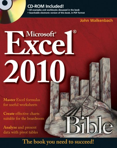 Excel 2010 Bible By John Walkenbach