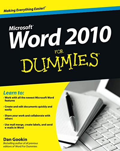 Word 2010 For Dummies By Dan Gookin