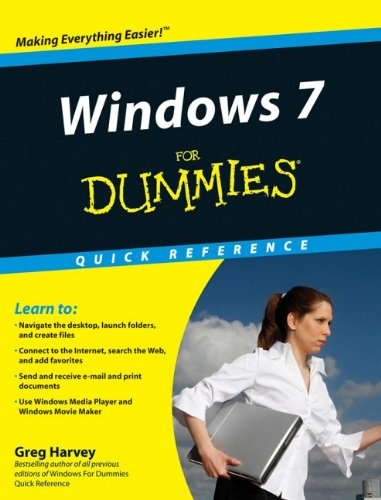Windows 7 For Dummies Quick Reference By Greg Harvey