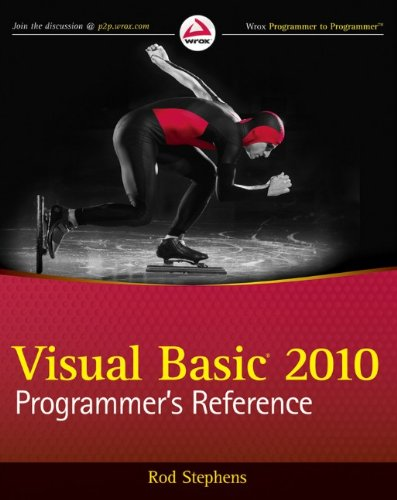 Visual Basic 2010 Programmer's Reference By Rod Stephens