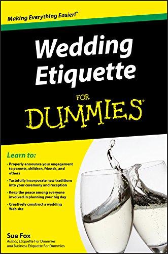 Wedding Etiquette For Dummies By Sue Fox