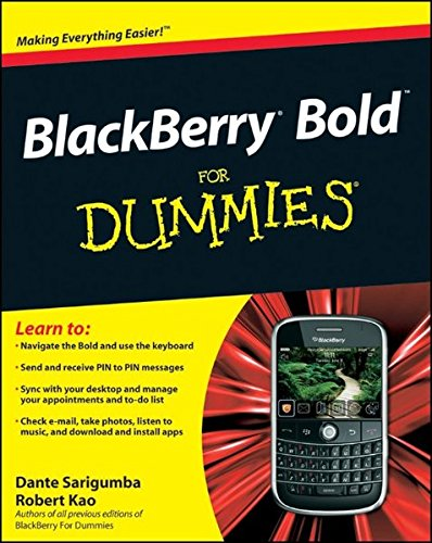 BlackBerry Bold For Dummies By Dante Sarigumba