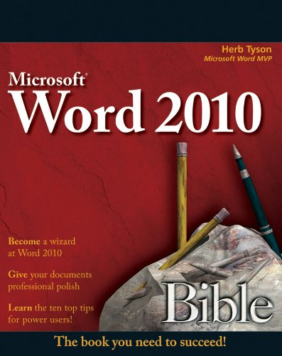 Word 2010 Bible By Herb Tyson