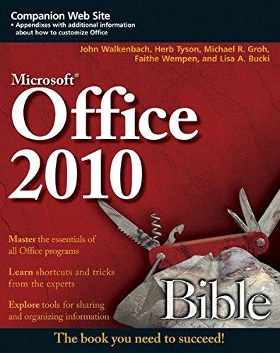 Office 2010 Bible By John Walkenbach