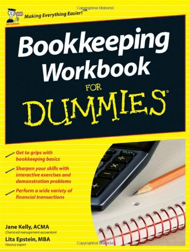 Bookkeeping Workbook For Dummies by Jane Kelly
