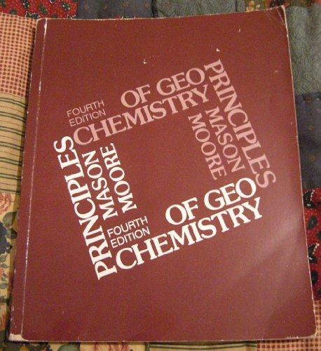 Principles of Geochemistry by Brian Mason