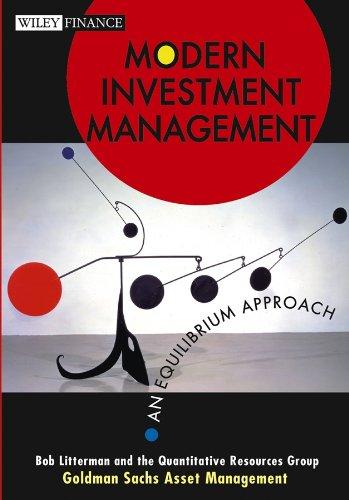 Modern Investment Management By Bob Litterman