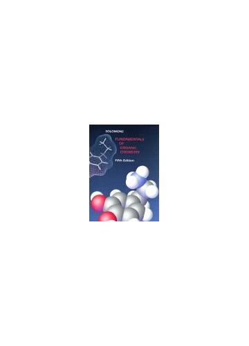 Fundamentals of Organic Chemistry By T. W. Graham Solomons
