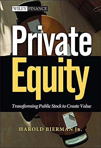 Private Equity By Harold Bierman, Jr.