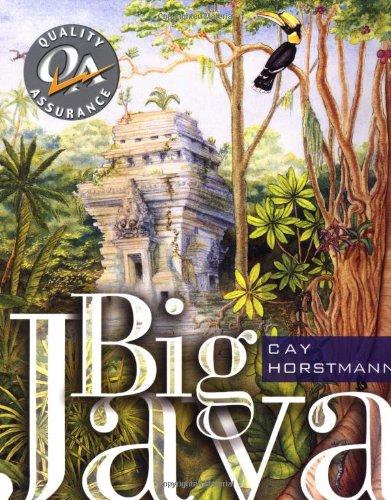 Big Java By Cay S. Horstmann