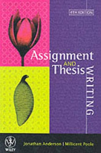 Assignment & Thesis Writing by Anderson, Jonathan Paperback Book The Cheap Fast