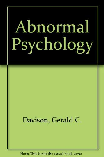 Abnormal Psychology By Gerald C. Davison