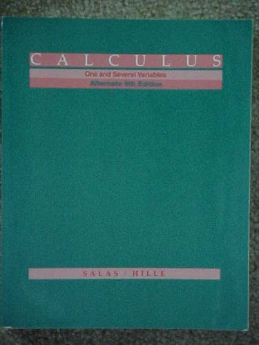 Details About Calculus One And Several Variables Alternate 6th By Hille Einar Paperback