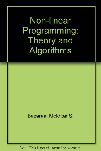 Non-linear Programming By M. S. Bazaraa