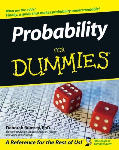 Probability For Dummies By Deborah J. Rumsey