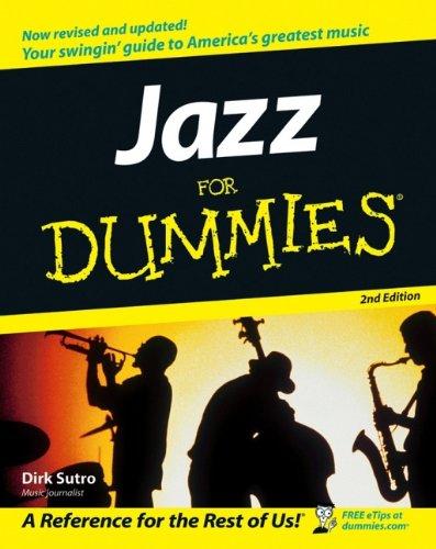 Jazz For Dummies By Dirk Sutro