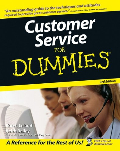 Customer Service For Dummies By Karen Leland