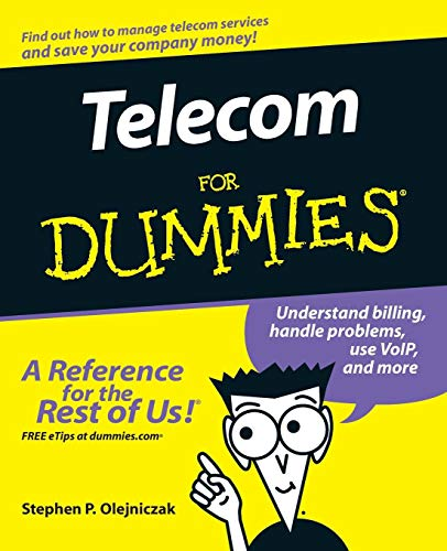 Telecom For Dummies By Stephen P. Olejniczak