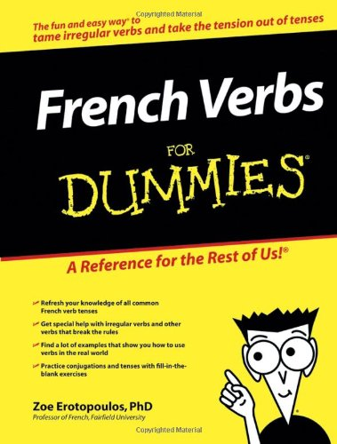 French Verbs For Dummies By Zoe Erotopoulos