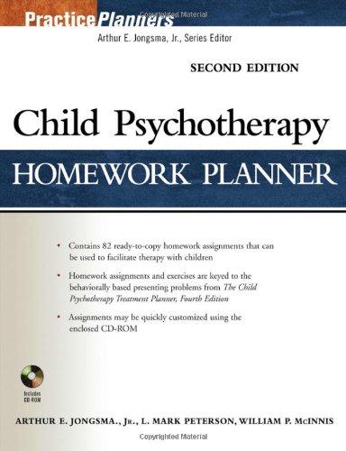 Child Psychotherapy Homework Planner By Arthur E. Jongsma, Jr.