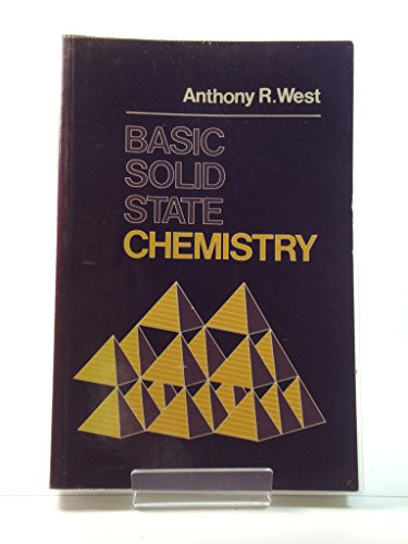 Basic Solid State Chemistry by West, Anthony R. Paperback Book The Cheap Fast