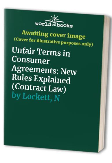 Unfair Terms in Consumer Agreements By Manus Egan