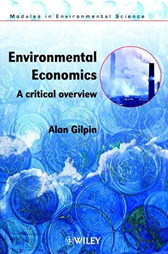Environmental Economics By Alan Gilpin