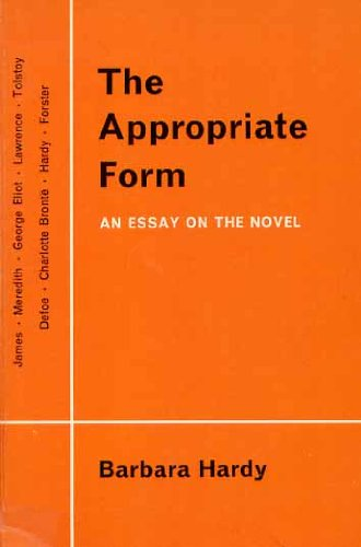 The Appropriate Form par Barbara Hardy