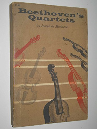 Beethoven's Quartets By Joseph De Marliave