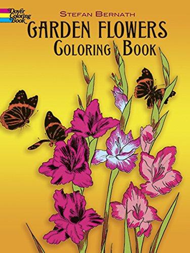 Garden Flowers Coloring Book By Stefen Bernath