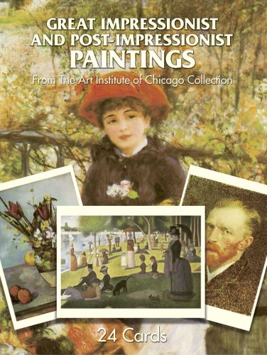 24 Full-Color Postcards of Great Impressionist and Post-Impressionist Paintings in the Collections of The Art Institute of Chicago By Art Institute of Chicago