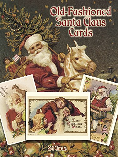 Old-Fashioned Santa Claus Postcards in Full Colour By Suzanne Presley