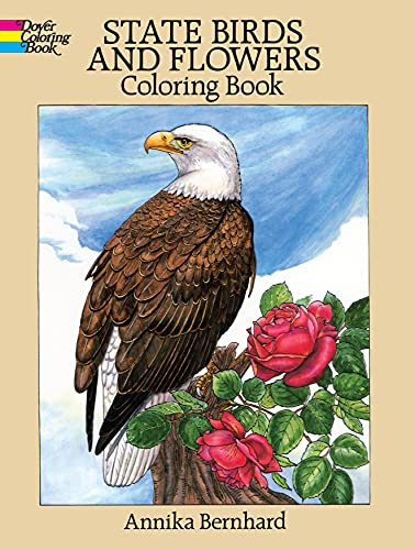 State Birds and Flowers Coloring Book By Annika Bernhard